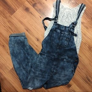 NWT Forever 21 Women's Long Pant Jean Overalls